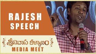 Satyam Rajesh Speech Srinivasa Kalyanam Media Meet Nithiin, Raashi Khanna