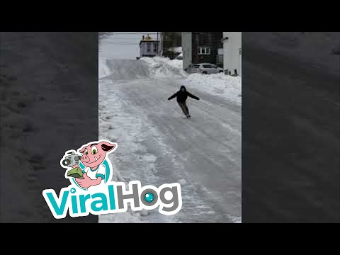 Eric Hunter - Canadian Skates Down Frozen Road