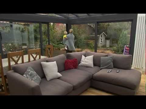 5.5m x .5.5m Glass conservatory with XP Gliding Doors
