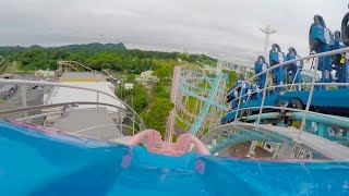 Millky Way Standing and Sit Down Roller Coaster POV Mitsui Greenland Japan