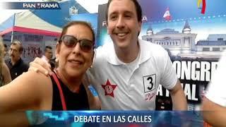 La calle pregunta: postulantes al Congreso debaten ante la ciudadanía