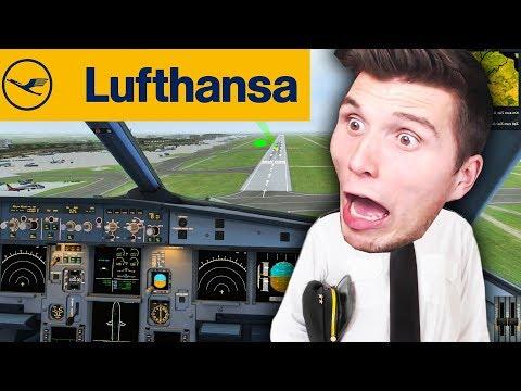 Ich lande einen AIRBUS A320 der LUFTHANSA (vielleicht stürzen wir auch ab)