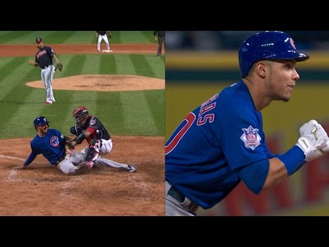 WS2016 Gm7: Cubs score twice to take 3-1 lead in 4th