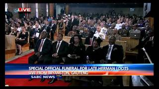 Pres. Zuma eulogy to the late Hermanus Loots, described him as loyal and humble