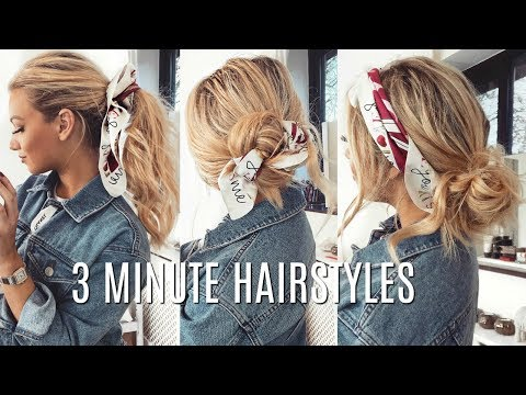 QUICK & EASY HAIRSTYLES that look CUTE in 3 minutes!