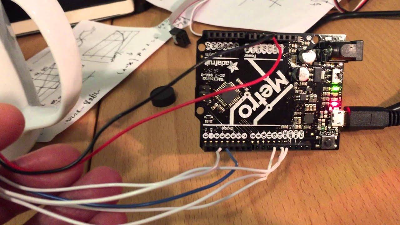 How to hook up adns optical flow sensor the arduino