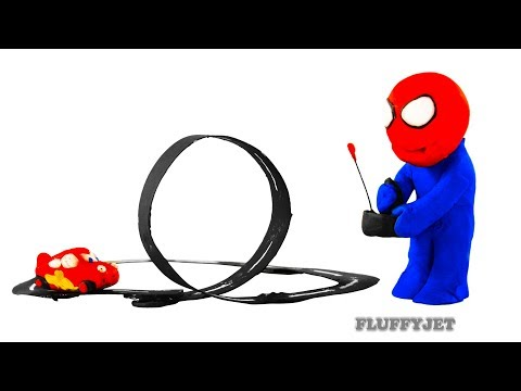 Spiderman Cars 3 Lightning Mcqueen Play Doh Stop Motion video Thomas & Friends train kids playtime