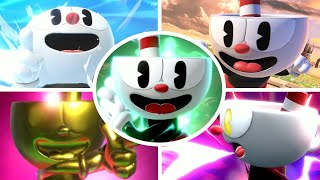 Cuphead All Victory Poses, Final Smash, Taunts & Palutena Guidance in Smash Bros Ultimate