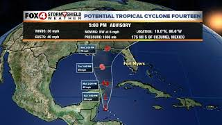Saturday 10/6 5PM Advisory Potential Tropical Cyclone #14
