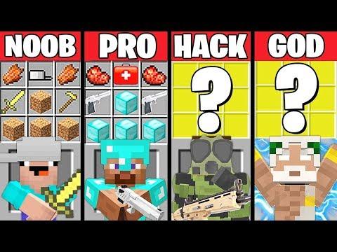 Minecraft Battle: ZOMBIE APOCALYPSE CRAFTING CHALLENGE - NOOB vs PRO vs HACKER vs GOD ~ Animation thumbnail