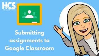 How to submit assignment in Google Classroom tutorial