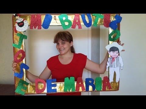 Marco fotografico para fiestas youtube - Como hacer un marco de fotos a mano ...