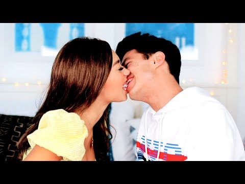 THE MOUTH TO MOUTH CHALLENGE | MyLifeAsEva And Brent Rivera