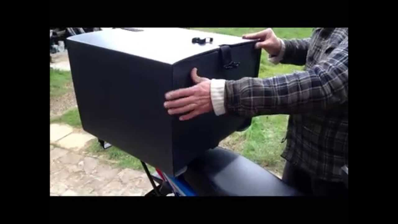 Usm Motorcycles Pizza Box Amp Carrier Demo Youtube