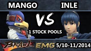 GOML - C9 | Mango (Falco) Vs. Inle (Marth) SSBB 1 Stock Pools - Super Smash Bros. Brawl