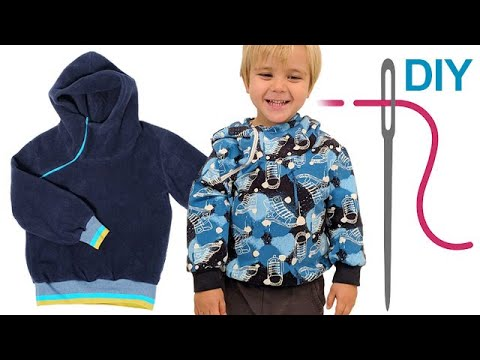 "Pullover nähen für Anfänger - DIY Hoodie ""Kinga"" - YouTube"