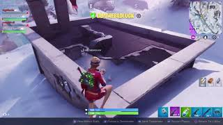 Sideways snowman glitch. Getting the Win! Fortnite!