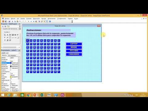 Sopa de Letras Parte 2 Visual Basic para aplicaciones