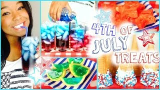 Diy Fourth Of July Treats! Layered Drinks, Dipped Cones+ More!