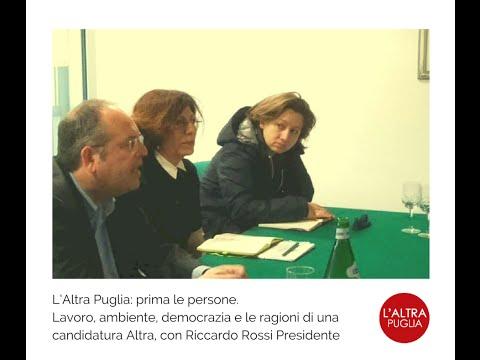 L'Altra Puglia - presentazione candidatura Regionali 2015