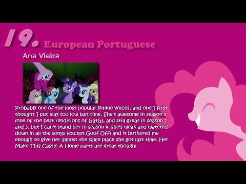 *Personal Ranking* Pinkie Pie's singing voices [Remake]