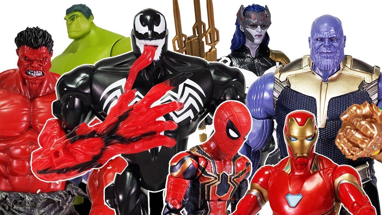 Download Avengers Infinity War & Thanos Battle, Go~! Spider Man, Hulk, Iron Man, Thor, Black Panther