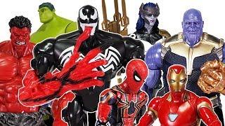 Avengers Infinity War & Thanos Battle, Go~! Spider Man, Hulk, Iron Man, Thor, Black Panther