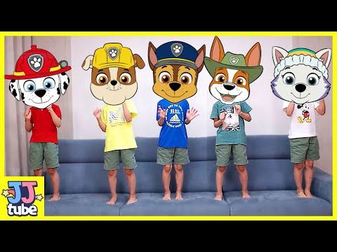 퍼피구조대 인기동요로 알파벳 ABC 송 영어공부해요 Five Little Monkeys ABC Alphabet Nursery Rhymes Song for kids [JJ tube]