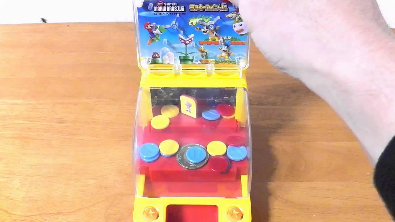 New Super Mario Bros Coin Game! New スーパーマリオブラザーズ Wii ラッキーコインJr.で500円玉ゲットしてみた