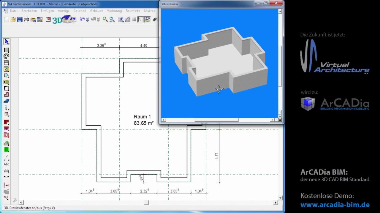 Konstruktionselemente Außenwände Im Grundriss Zeichnen Und Planen