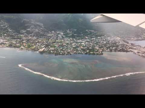 Tahiti, French Polynesia - Landing at Fa'a'ā International Airport HD (2017)