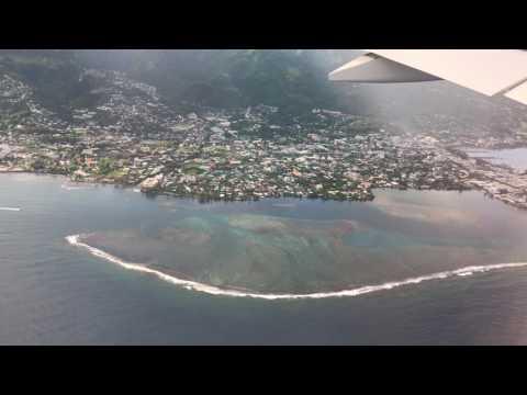 Tahiti, French Polynesia - Landing at Fa\'a\'ā International Airport HD (2017)