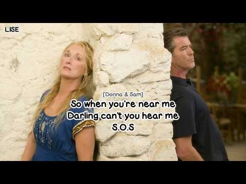 "Pierce Brosnan & Meryl Streep - SOS (From ""Mamma Mia!"") [Lyrics Video]"