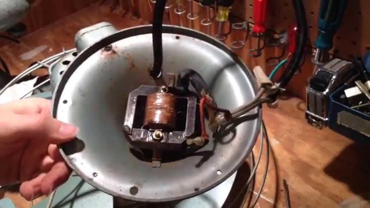 Rewiring a Vintage Vortalex Fan - YouTube on