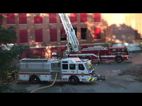 BF Brown School Fire Aftermath Raw Footage