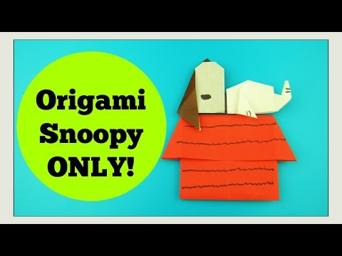 ORIGAMI SNOOPY - Paper Crafts for Kids DIY Tutorial - Paper Snoopy