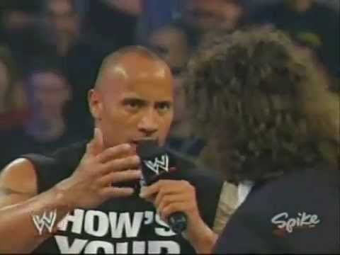 The Rock returns in  Mick Foley