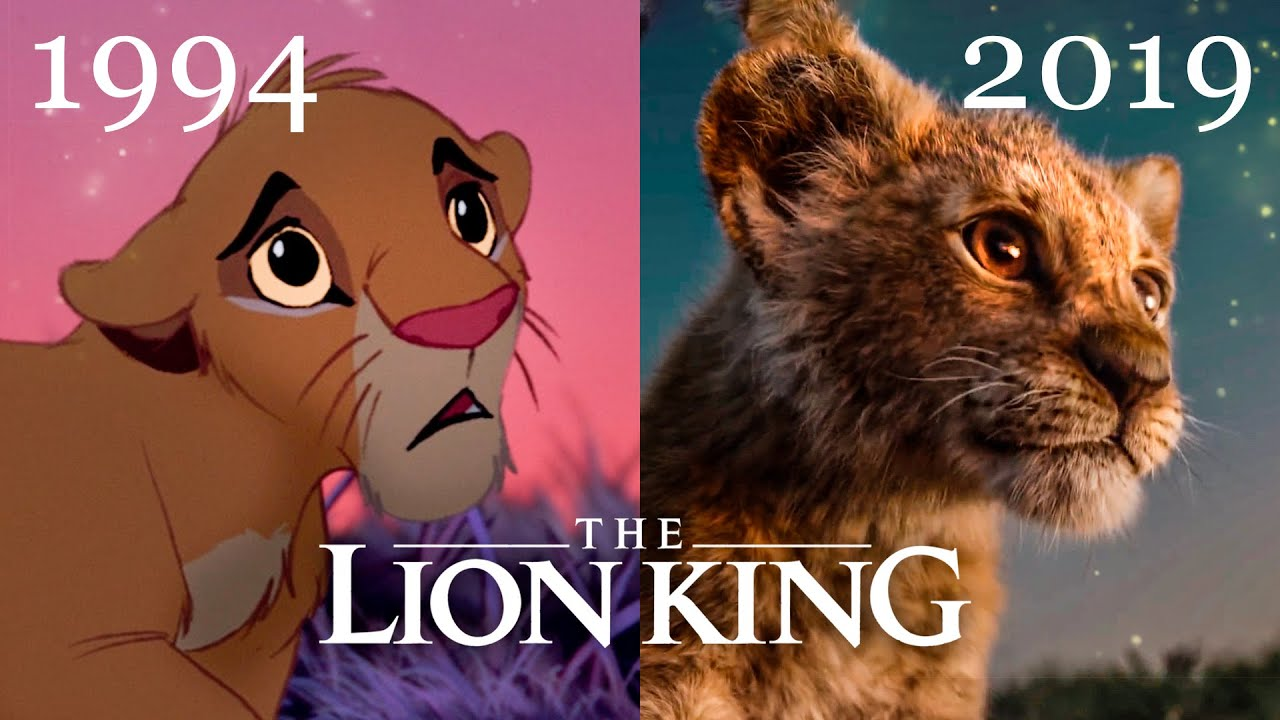 lion king new trailer  ud83d udc17 best comparison 1994 vs 2019