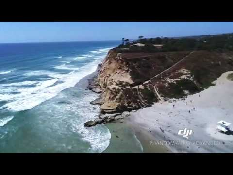 HD Drone in San Diego, CA - Del Mar Coastline, Dog Beach & Del Mar Race Tracks