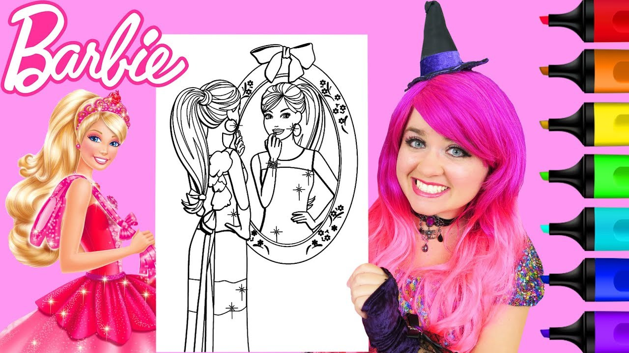 Coloring Barbie Makeup Fashion Mirror Coloring Page Prismacolor ...