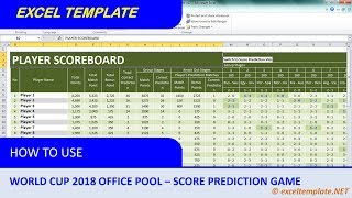 World Cup 2018 Office Pool #3 : Score Prediction Game Only