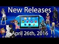 PlayStation Vita New Releases April 26 2016 |PSVITA|