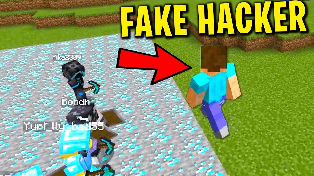 Download Fake hacker OP trolling on my minecraft server