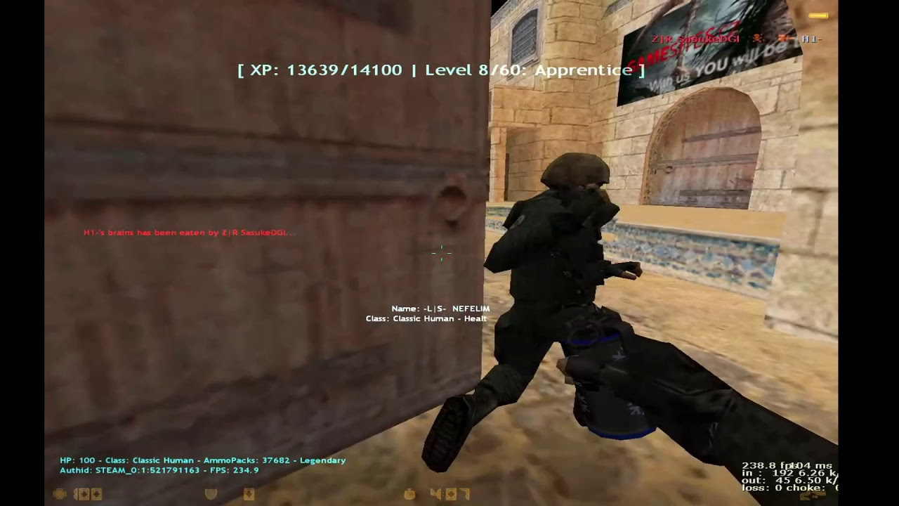 CS 1.6 Zombie Plague lsgamerz.net - YouTube