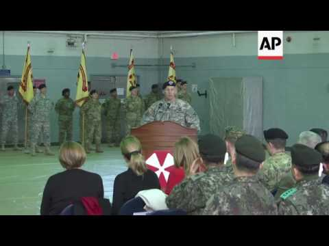 US army change of command at SKorea base