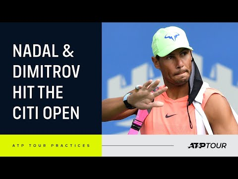 EXCLUSIVE: Nadal & Dimitrov's First Hit In Washington