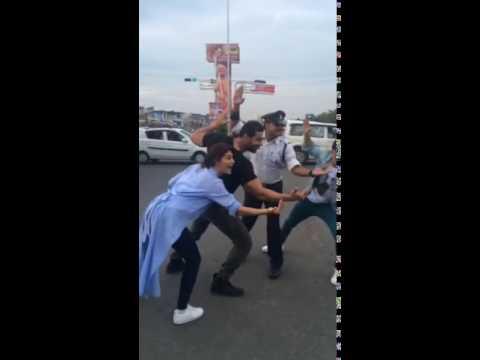 Team Dishoom meets the moonwalking cop in Indore!