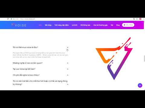 Voise   Một nền tảng âm nhạc phi tập trung được hỗ trợ bởi mạng Ethereum
