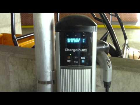 Electric Car Charging Station Tampa Florida Ybor City