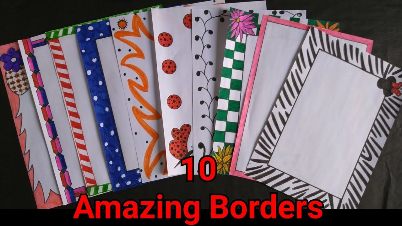 3 beautiful borders for projects handmadesimple border designs on  paperassignment front page bord